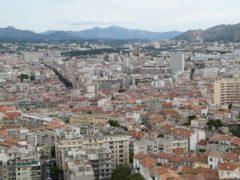 The view from the Notre-Dame de la Garde Basillica in Marseilles