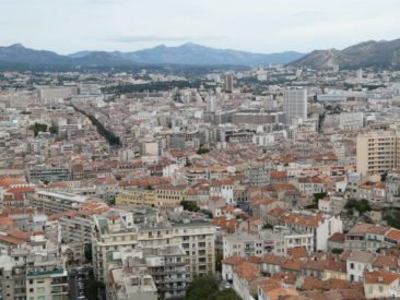 The view from the Notre-Dame de la Garde Basillica in Marseilles