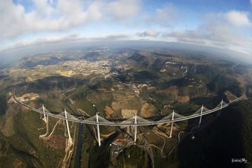 The Millau viaduct - the tallest bridge in the world