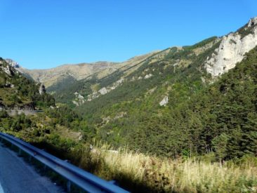Początek trasy Col de Tende