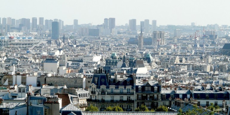 Paris city landscape seen from the Sacre Coeur