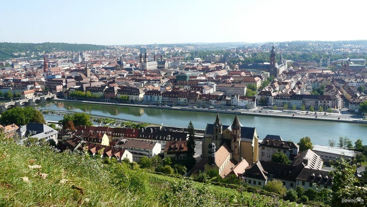 Panorama of Würzburg, Germany