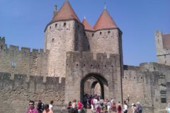 The entrance gate to the fortification Carcassonne