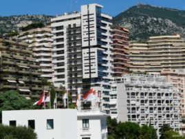 The city's architecture in Monaco