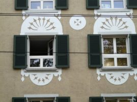 windows of buildings