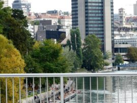 Urban beach in Zurich