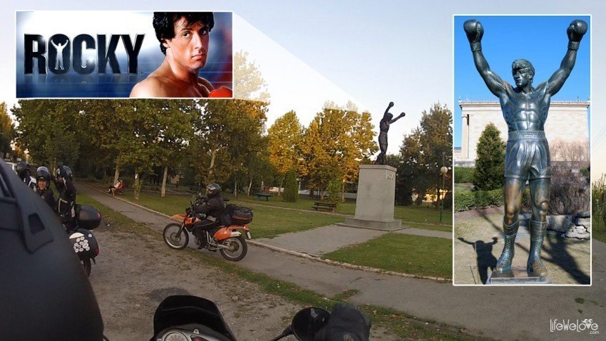 Osobliwy pomnik Rocky'ego w serbskim miasteczku