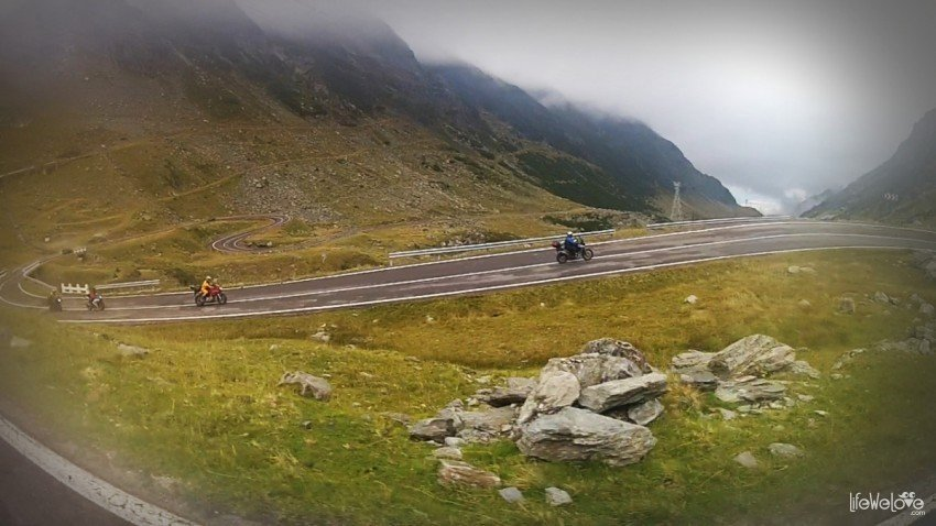 The Transfagarsan Road by motorcycle