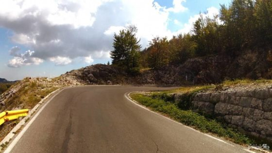 The road in Lovcen National Park