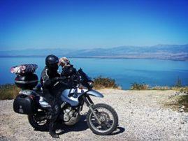 Jezioro Szkoderskie motocyklem