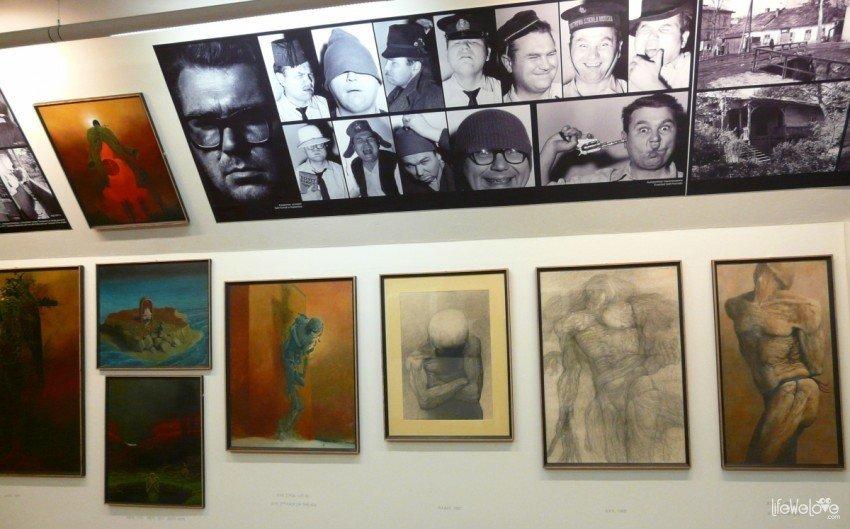 Galeria Beksińskiego autoportrety