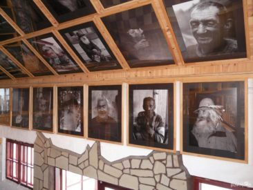 The first room in Siekierezada is decorated with portraits of local personalities