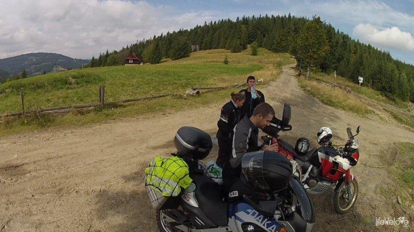 Trasa motocyklowa na Śląsku koło Bielsko -Białej