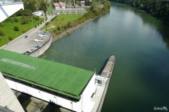 Solina dam is the largest hydro-technical structure in Poland and has a length of 664 m and a height of 82 m.