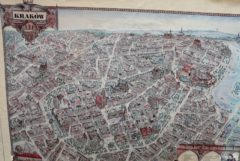 The map of Krakow