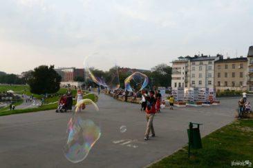 Bańki mydlane w Krakowie