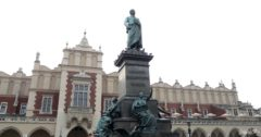 The statue of Adam Mickiewicz