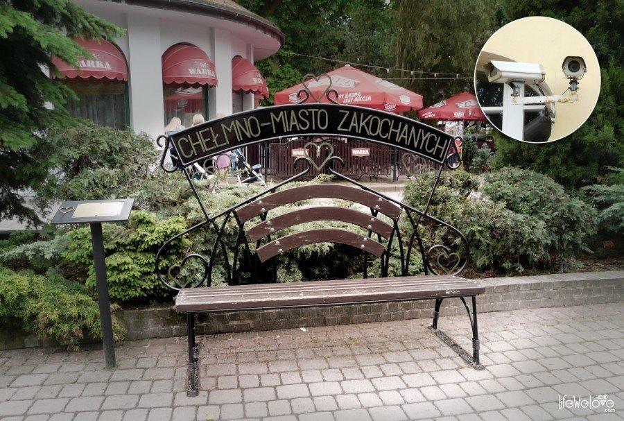 Chełmno - ławeczka pozdrowień