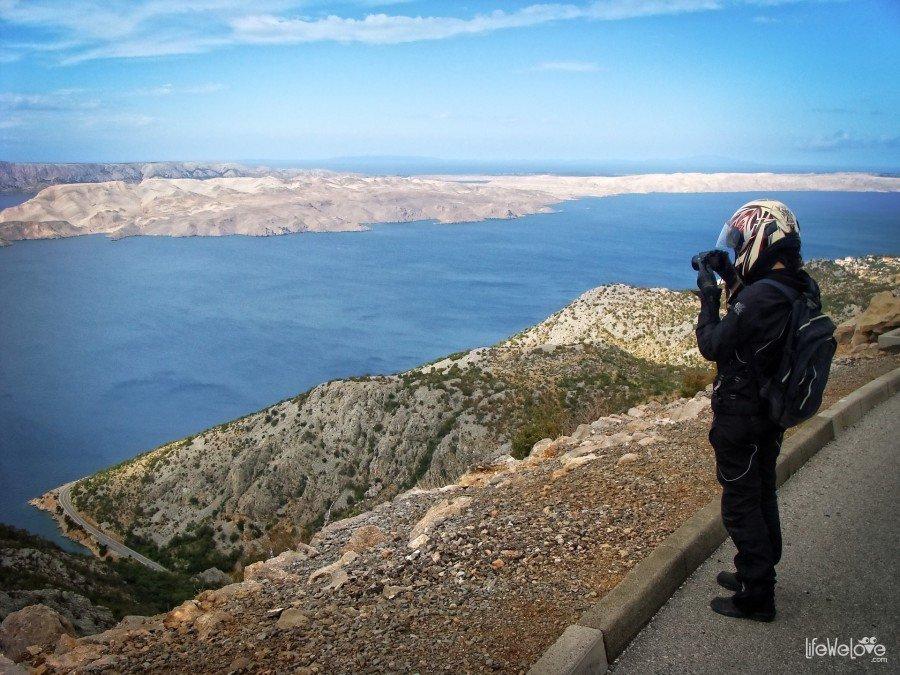Fotograf na wyspie Pag