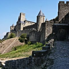 One of the gates in Carcassonne
