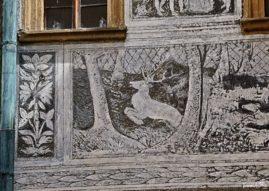Sgraffitowe dekoracje - jeleń