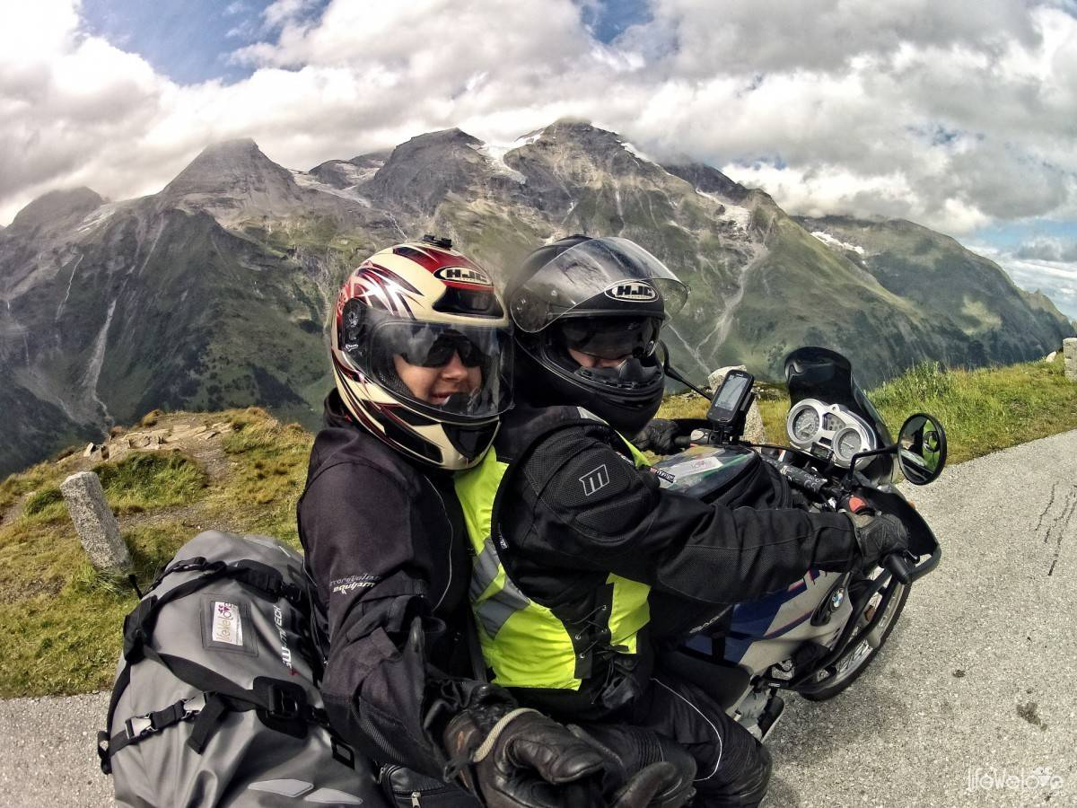 You and Joki on a motorcycle