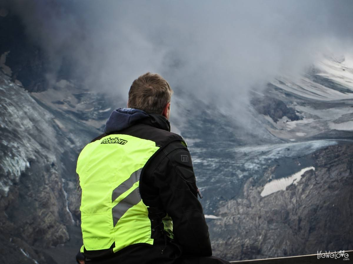 The view on Pasterze Glacier