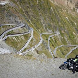 Stelvio Pass by motorcycle