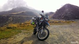 BMW F650 GS Dakar on Croce Domini Pass