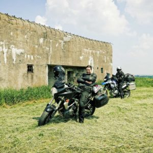 Motorcycles and bunker
