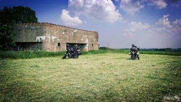 Bunker and motorbikes