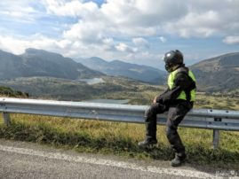 Motorcyclist on a Croce Domini Pass