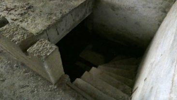 Stairs in bunker
