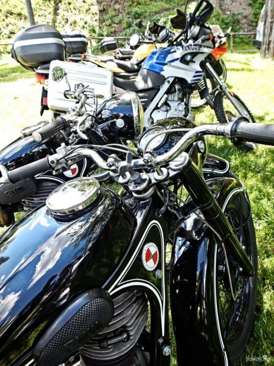Stary niemiecki motocykl