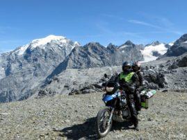 Stelvio motocyklem widoki