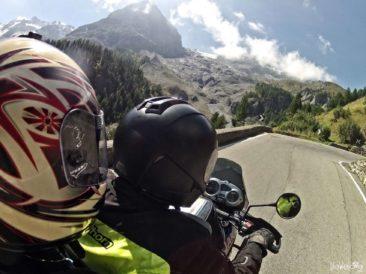 Stelvio Pass on a motorbike