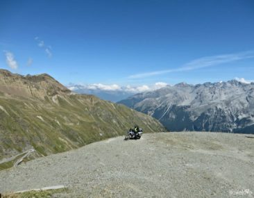 Stelvio Pass and motorcycle