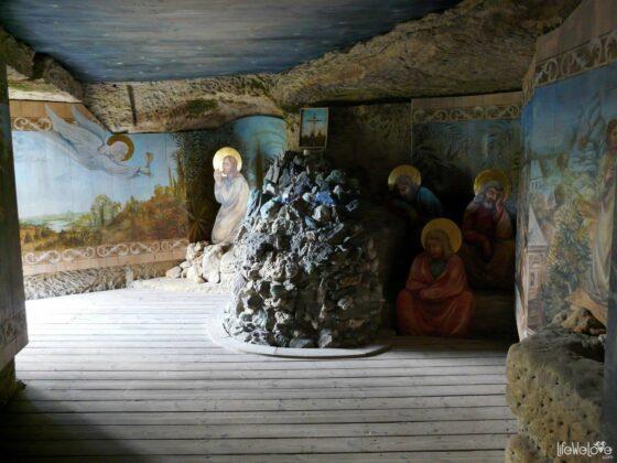 W środku zamku Sloup
