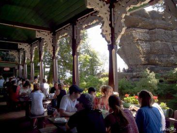 Wnętrze restauracji pod Pravčicką Bramą