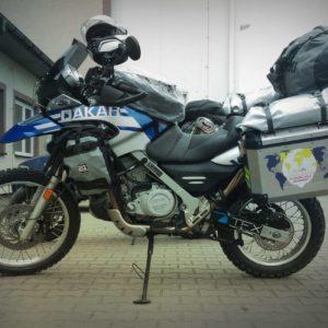 F650 GS Dakar gotowy do wyprawy