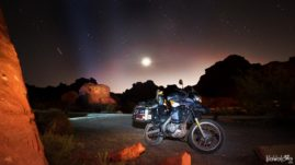 BMW F650 GS Dakar at Valley of Fire