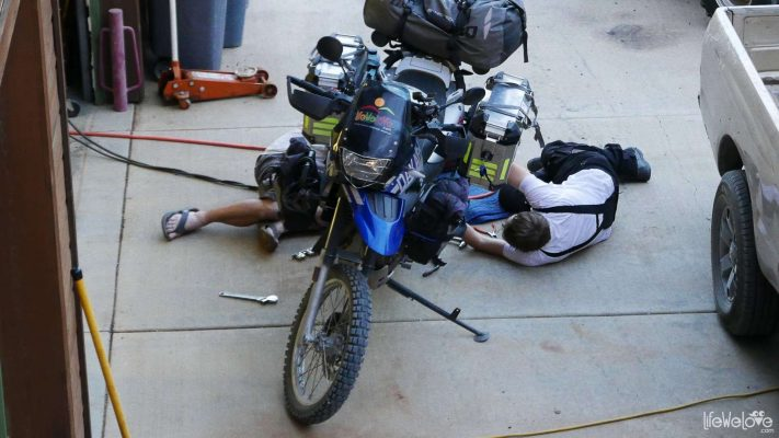 Motorbike repairing