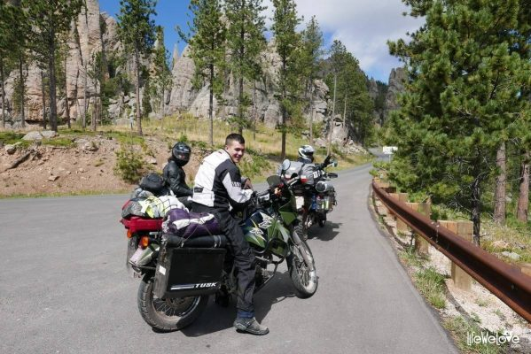 Needles Highway by motorbike