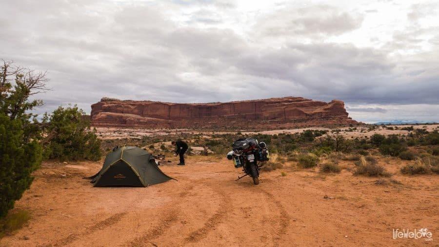 BLM camping in Utah