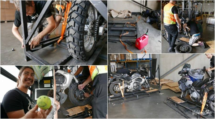 Odbiór motocykli w warsztatu w Nowym Jorku