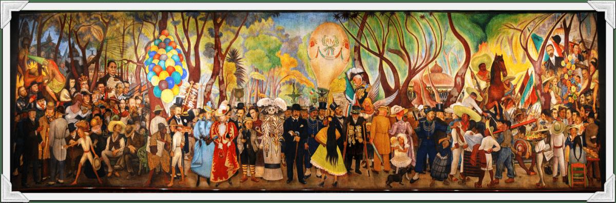 Sueno de una tarde dominical el la Alameda - Marzenie o niedzielnym popołudniu w parku Alameda, 1947