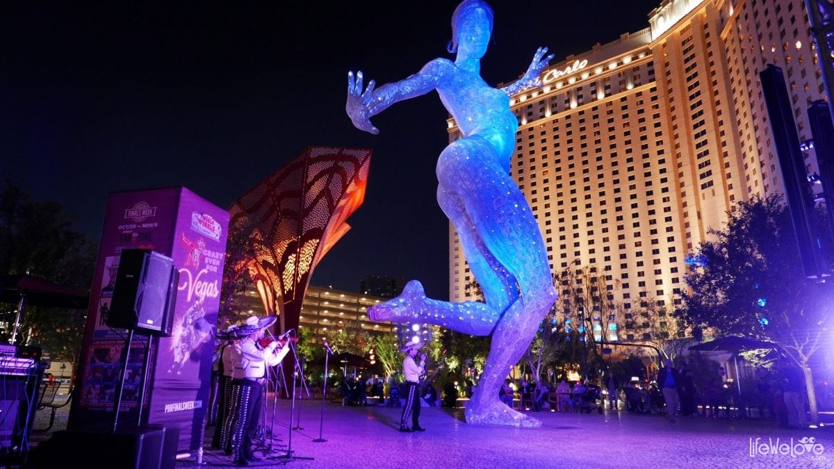 Bliss dance in Las Vegas night