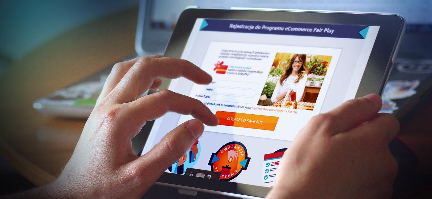 SafeBuy Registration on tablet