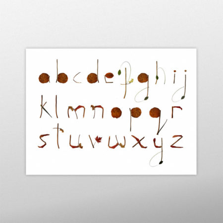 Natural Letters Typography Poster