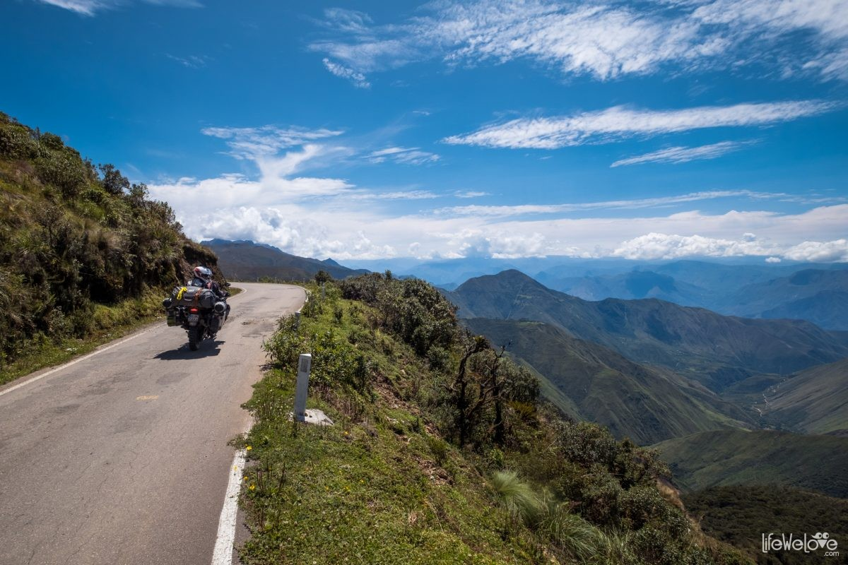 Motorcycle route in Peru